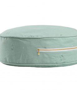 ronde poef minty green Sassefras