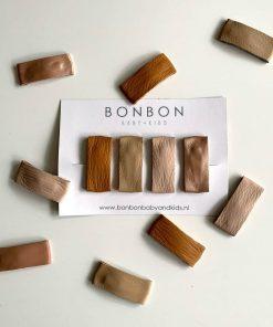 setje rechthoekige klikklak knipjes van Bonbon