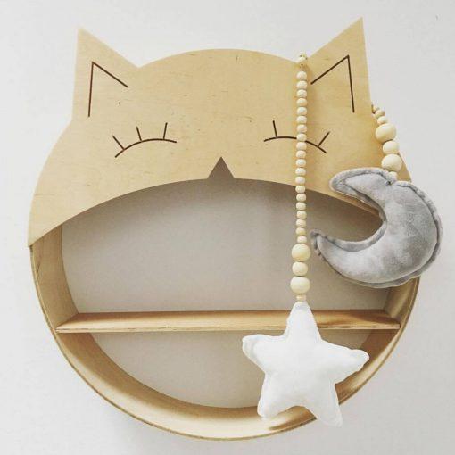 wandkastje in de vorm van een kat Sassefras