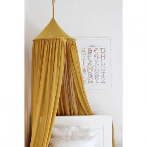 canopy van Cotton & Sweets mustard bovenkant Sassefras