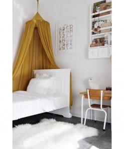 canopy van Cotton & Sweets mustard van de zijkant Sassefras