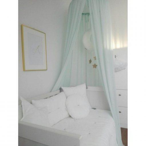 canopy voor de babykamer boven bed mint Sassefras