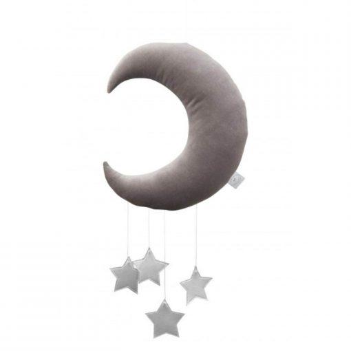 cotton & sweets maan mobile zilveren sterren Sassefras
