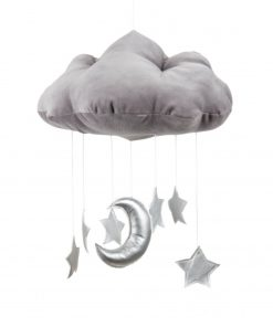 cotton & sweets wolk mobile zilveren sterren Sassefras