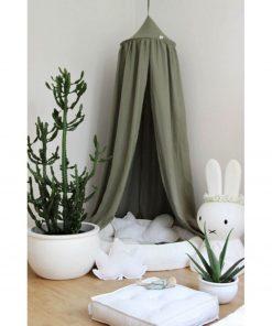 groen hemeltje linnen pure nature Sassefras