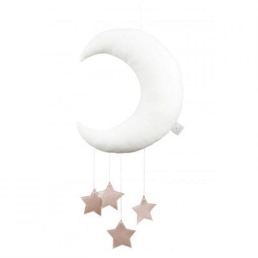 maan en ster mobile roze sterren Sassefras