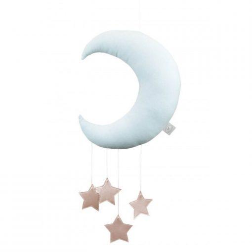 maan mobile met sterren roze Sassefras