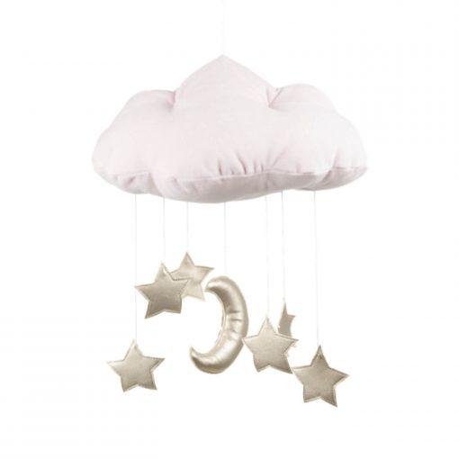 mobile wolk met sterren goud Sassefras
