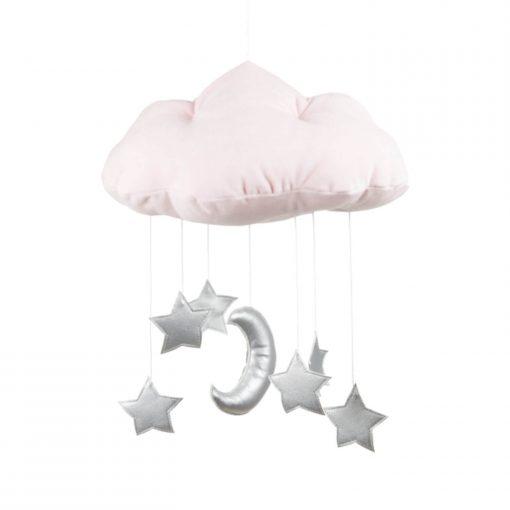 mobile wolk met sterren zilver Sassefras