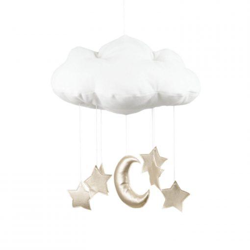 wolk en ster mobile goud Sassefras