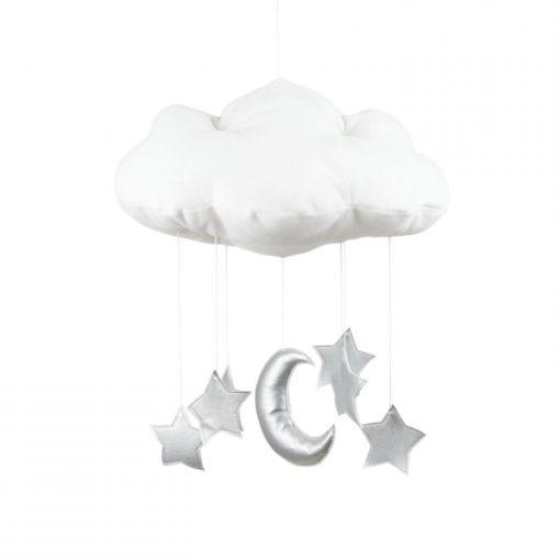 wolk en ster mobile zilver Sassefras