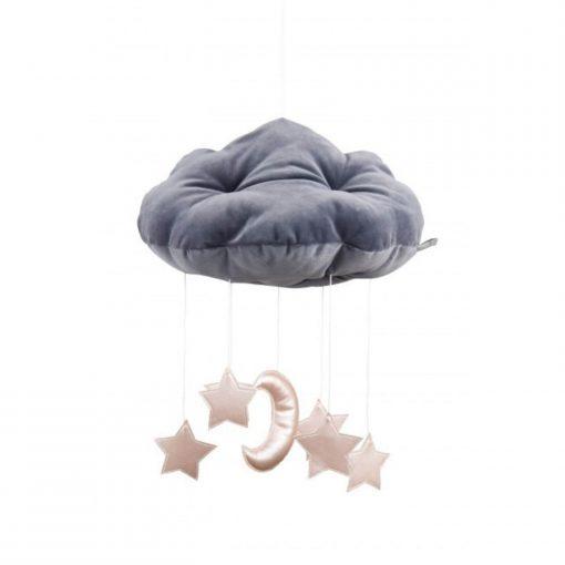 wolk en sterren mobile roze Sassefras