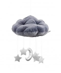wolk en sterren mobile zilver Sassefras