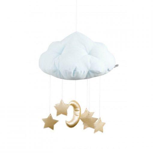 wolk mobile met maan en sterren goud Sassefras
