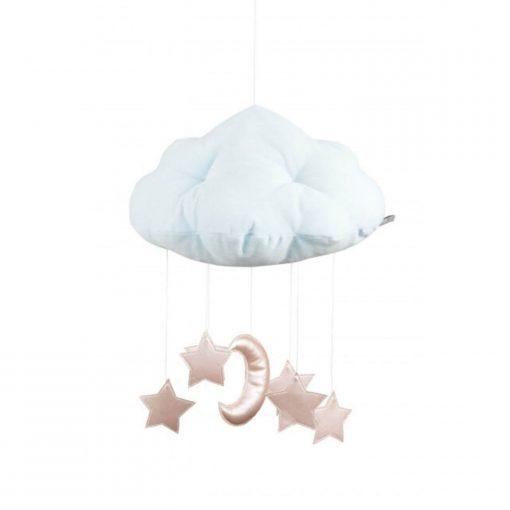 wolk mobile met maan en sterren roze Sassefras