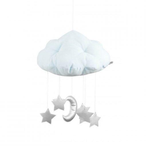 wolk mobile met maan en sterren zilver Sassefras