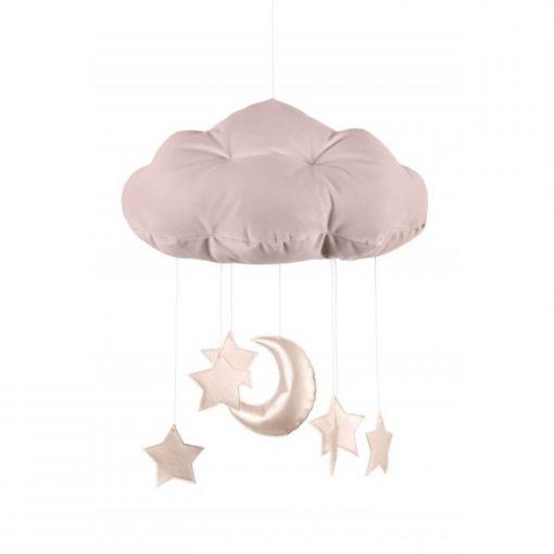 wolk mobile sterren roze Sassefras