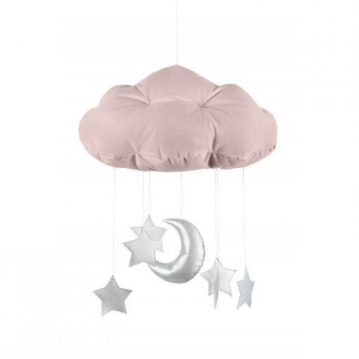 wolk mobile sterren zilver Sassefras