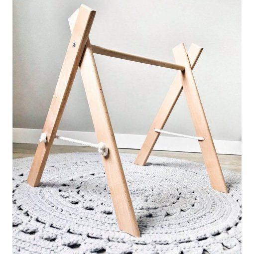houten babygym zonder speeltjes Sassefras