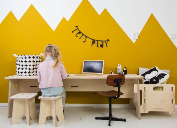 Speelhoekjes kinderspeeltafel Wool & Woodies