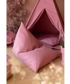 blush roze zitzak voor peuters Sassefras