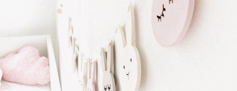 kinderkamer decoratie houten bunny slinger Sassefras