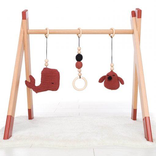 zelf samen te stellen houten babygym Sassefras