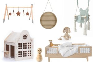 naturel hout babykamer