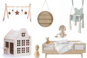 naturel hout babykamer