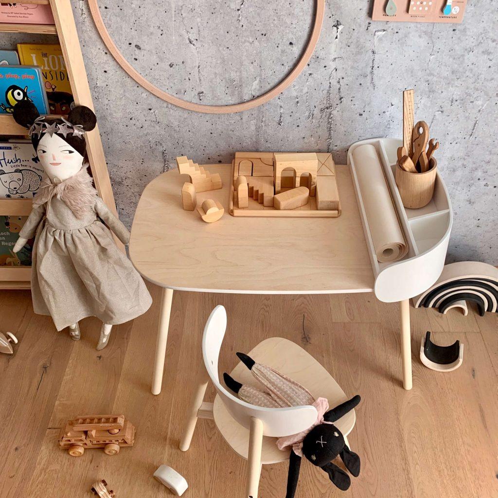 kukuu toolbox met kindertafel met stoeltje Sassefras