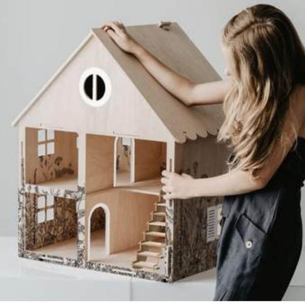 poppenhuis van hout Sassefras