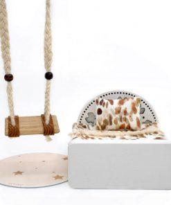houten eenpersoons poppenhuis bed Sassefras