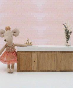 houten keukentje voor poppenhuis Sassefras