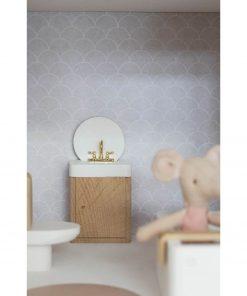 houten poppenhuis wastafel Sassefras