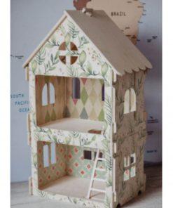 poppenhuis met print Sassefras