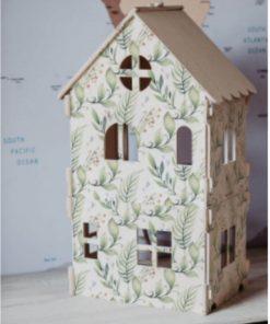 poppenhuis met print van zesklejki Sassefras