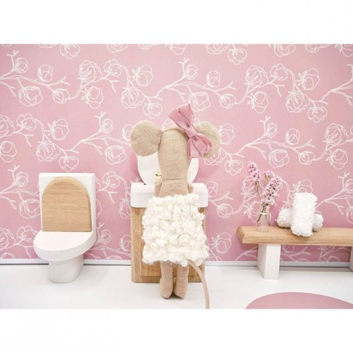 poppenhuis toilet in badkamer Sassefras