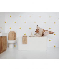 relaxen in wit houten badkuip voor poppenhuis Sassefras