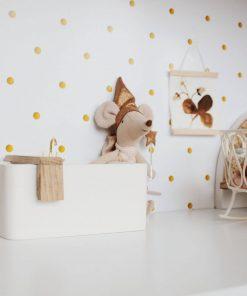 wit houten badkuip voor poppenhuis Sassefras