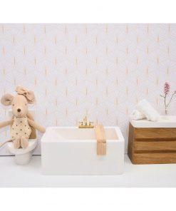 wit houten badkuip voor poppenhuis badkamer Sassefras