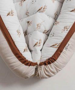 babynestje dried leaves meets beige onderkant Sassefras