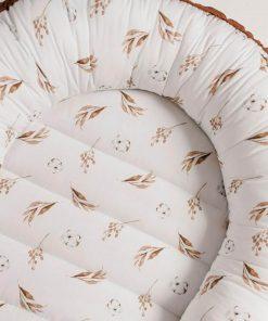 babynestje dried leaves meets beige print Sassefras