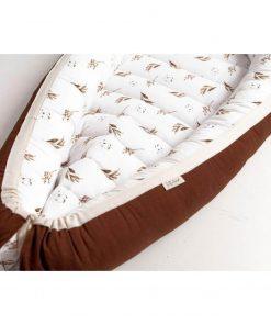 babynestje reversible Dried Leaves meets Brown details Sassefras