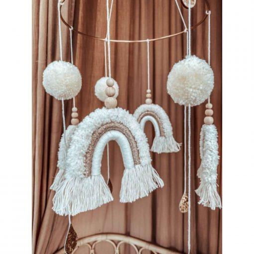 Cotton Design teddy regenboog mobile details Sassefras